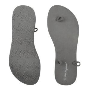 bandajanas slippers laag antraciet