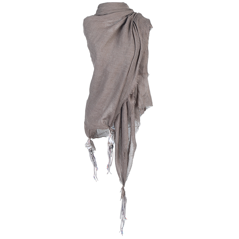 Bandajanas katoenen sjaal taupe