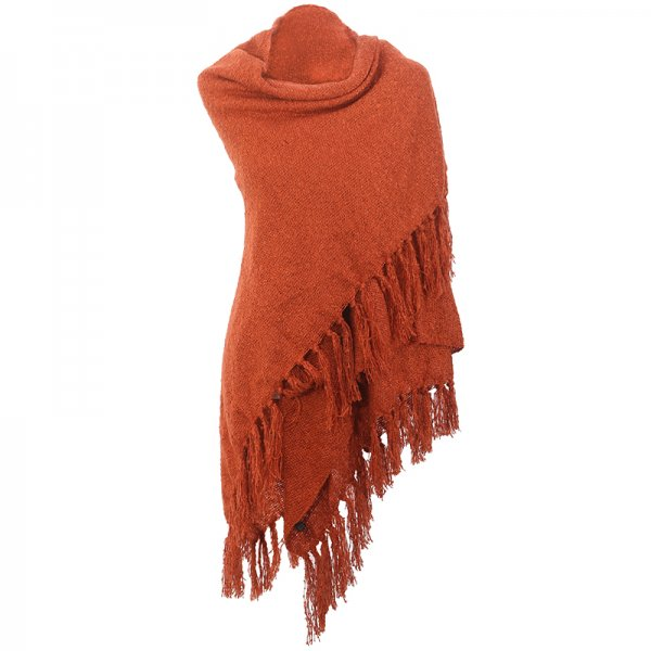 Bandajanas sjaal roestbruin