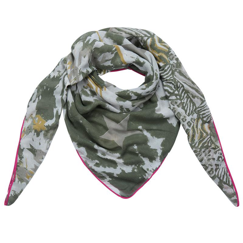 bandajanas sjaal legergroen