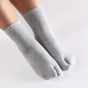 tabi sokken grijs