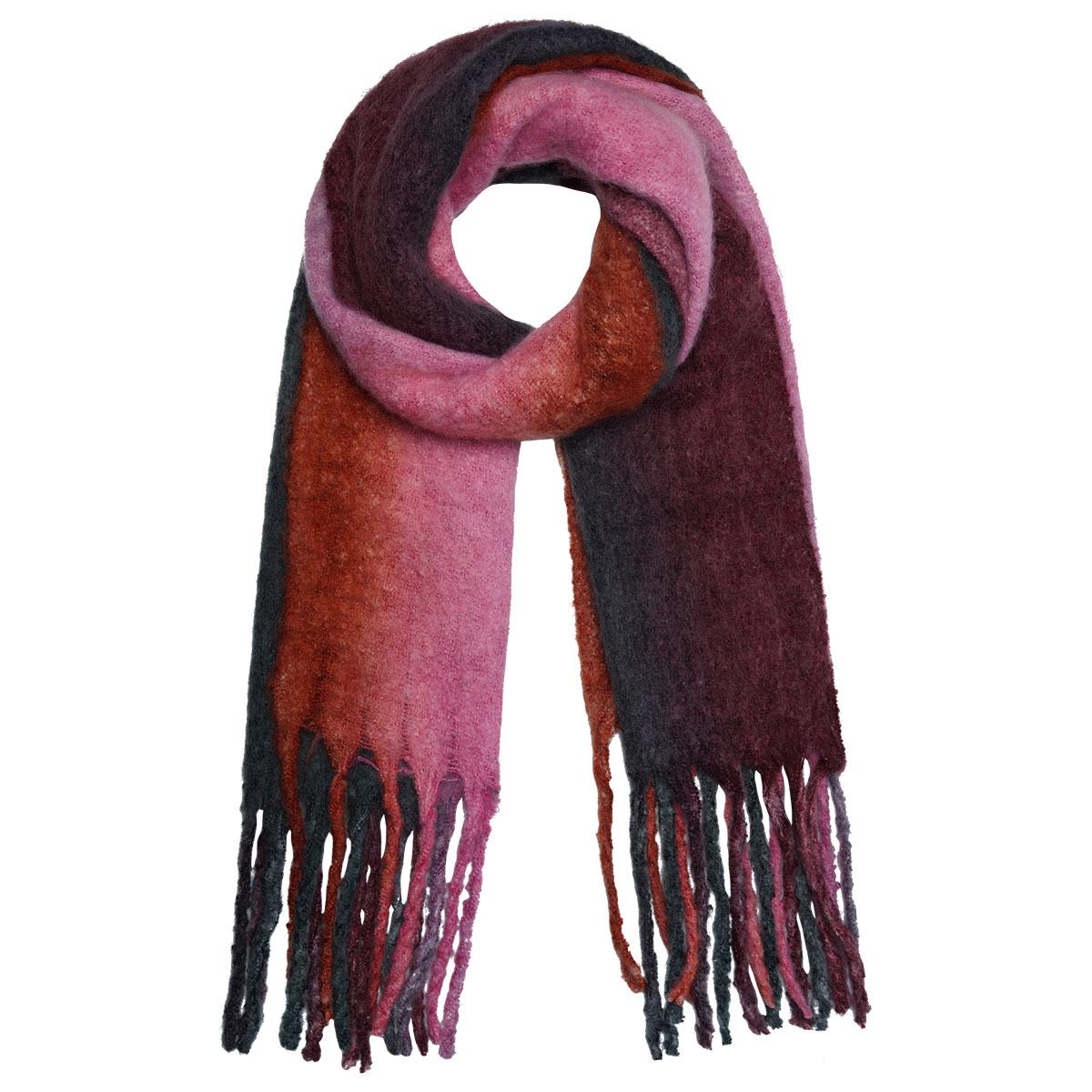 bandajanas sjaal verloopkleur roze
